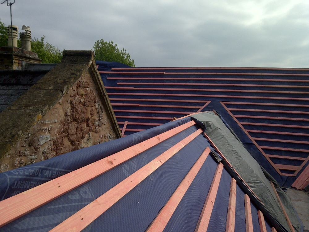 Re Roof The Old Vicarage Cothelstone Trevor Wyatt Roofing
